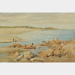 Charles Abel Corwin (American, 1858-1938)      Good Harbor Beach, Gloucester, Massachusetts