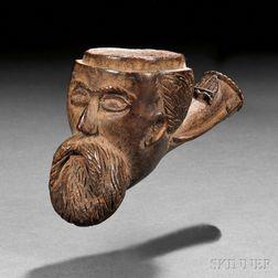 Civil War Carved Burl Pipe Bowl