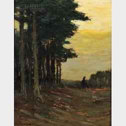Charles Warren Eaton (American, 1857-1937)      Edge of the Pine Grove