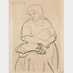 Diego Rivera (Mexican, 1886-1957)      Mother and Child