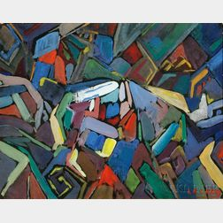 Leighton R. Cram (American, 1895-1981)      Untitled Abstraction.