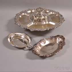 Three Silver-plated Tableware Items