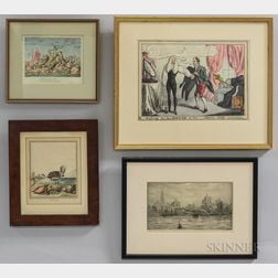 Seven Framed Etchings and Engravings