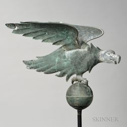 Cast Zinc and Molded Sheet Copper Eagle Weathervane
