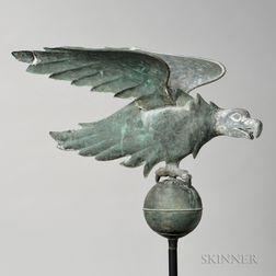 Cast Zinc and Molded Sheet Copper Eagle Weathervane