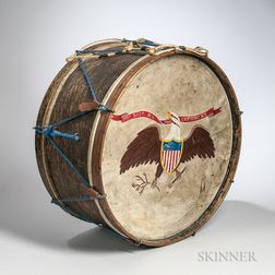 149th New York Volunteer Infantry Painted Bass Drum