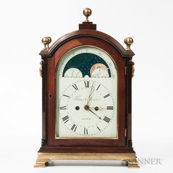 London Quarter-striking Mahogany Bracket Clock