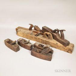 Thirteen 19th Century Wooden Woodworking Planes