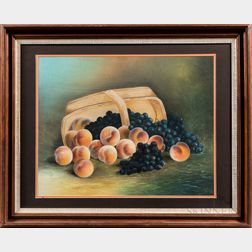 American School, Late 19th Century      Still Life with Overturned Basket of Fruit