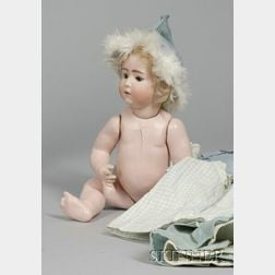 Heubach Bisque Character Baby with Wardrobe