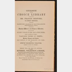 (Library Sale Catalog), Bedford, Francis