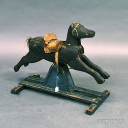 Painted Wooden Rocking Horse