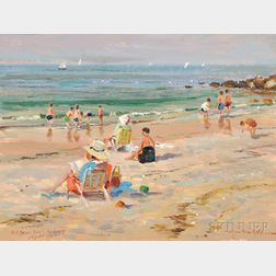 Wayne Beam Morrell (American, 1903-2013)      Old Garden Beach, Rockport