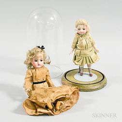 Two Small Bisque Dolls