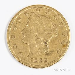 1882-S $20 Liberty Head Gold Coin