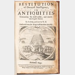 [Verstegan, Richard] (1550-1640) Restitution of Decayed Intelligence in Antiquities Concerning the Most Noble, and Renowned English Nat