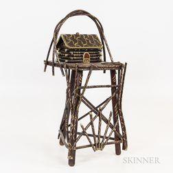 Adirondack Painted Smoker's Table