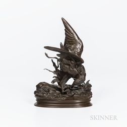 After Jules Moigniez (French, 1835-1894)       Bronze Model of a Bird