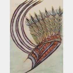 Anna Zemánková (Czech, 1908-1986)      Untitled (Five Flower Rods)