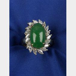 Jadeite Jade and Diamond Ring