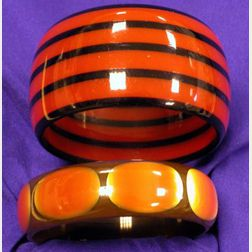 Two Bakelite Laminate Bangles