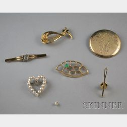 Six Gold Jewelry Items