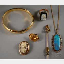 Small Group of Mostly Gold Jewelry