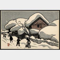 Kiyoshi Saito (Japanese, 1907-1992)      Village Road in Winter.