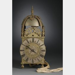 """Brass """"Winged"""" Lantern Clock with Alarm by Richard Ames"""
