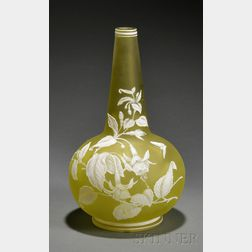 Cameo Glass Vase Attributed to Webb