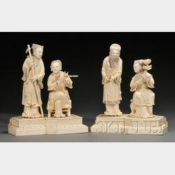 Pair of Ivory Carvings