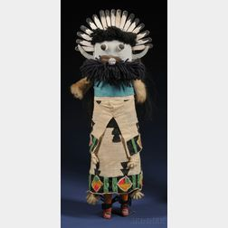 Southwest Painted Cloth and Wood Kachina