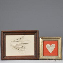 Paper Love Token and Calligraphic Dove