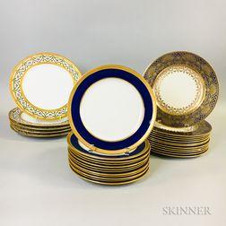 Twenty-nine Porcelain Plates