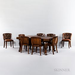 Mahogany Art Deco Dining Room Suite