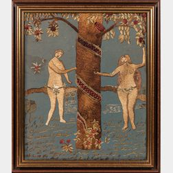 Silkwork Adam & Eve Picture