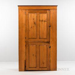 Country Pine Two-door Paneled Cupboard