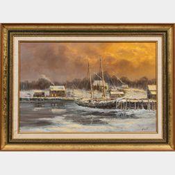 Ron Goyette (American, 1941-2002)      Arundel Wharf