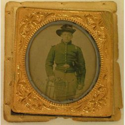 Six-Plate Ruby Ambrotype of a Young Union Soldier