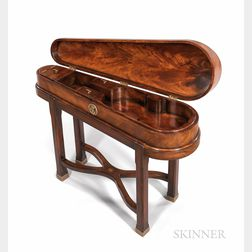 Victorian-style Mahogany Violin Case and Stand, Theodore Alexander, c. 2000