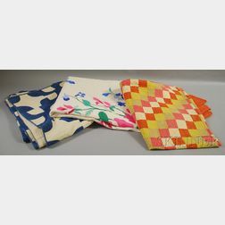 Three Hand-stitched Cotton Quilts