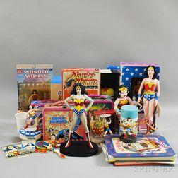 Large Group of Wonder Woman Collectibles and Ephemera