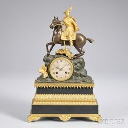 French Statuary Mantel Clock