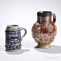 Two Early Stoneware Items