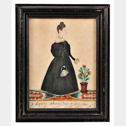 Joseph Davis (act. Maine/New Hampshire, 1811-1865)      Portrait of Lydia Pierce