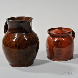 Two Pennsylvania Redware Items