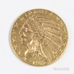 1912 $5 Indian Head Gold Coin