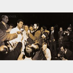 Garry Winogrand (American, 1928-1984)      Muhammad Ali and Oscar Bonavena Press Conference, New York City
