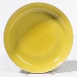 Yellow-glazed Dish