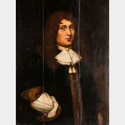 Dutch School, 17th Century      Portrait of a Clean-shaven Man with His Hand on His Hip